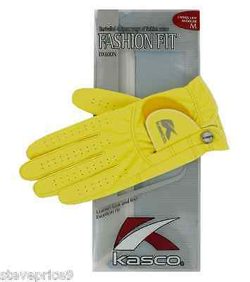 Kasco Ladies Yellow Fashion Fit Golf Glove. Large. Right Hand