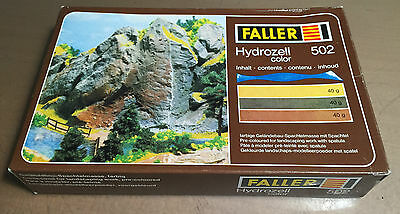 FALLER 502  - HYDROZELL 3 BUSTINE DI TERRE VARIE DA 40g - NUOVO