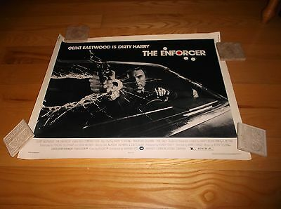 """1976 Clint Eastwood """"Dirty Harry"""" """"The Enforcer"""" 28"""" x 22"""" Movie Poster"""