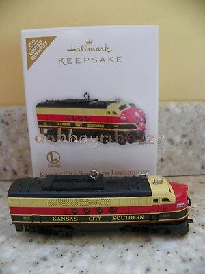 hallmark 2010 lionel kansas city southern locomotive train christmas