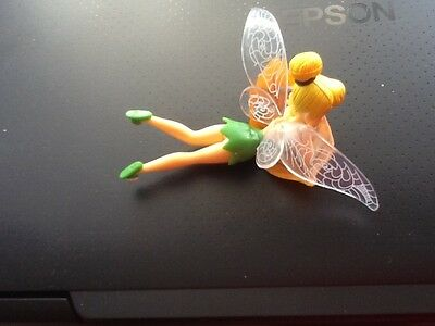 1XLYING ON BASE  Tinkerbell Fairy Figurines Ornament cake Topper or garden