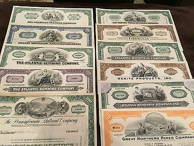 (57) Old MIXED STOCK CERTIFICATES -- Most 40+ Years Old From Various Industries