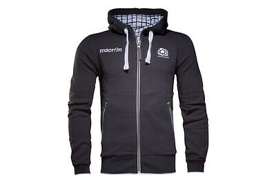Macron Scotland 2016/17 Cotton Full Zip Hooded Rugby