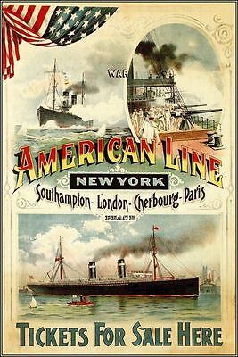 American Line In New York Movie  Poster 13x19 inches