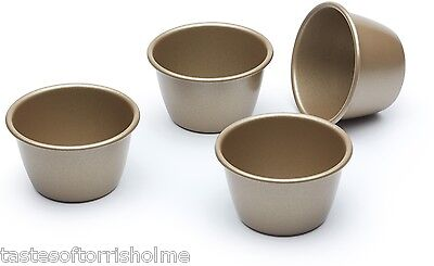 Paul Hollywood Bakeware Set Of 4 Non Stick 8.5cm / 150ml Dariole Pudding Moulds