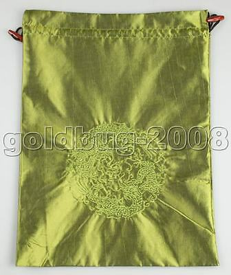 1pcs CHINESE CLASSIC STYLE EMBROIDERD SILK CLOTH&SHOE BAG Pouch