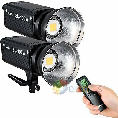 2Pcs Godox SL-100W 100W LED Light Studio Remote Photography Video Lighting【UK】