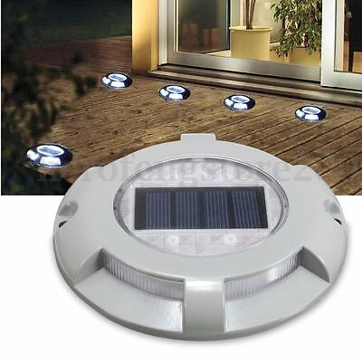 Outdoor LED Solar Powered Driveway Road Light Path Dock Ground Step Stair Lamp