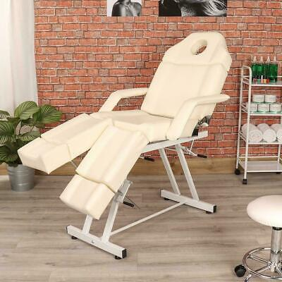 White/cream Pedicure Salon Beauty Massage Chair Table Facial Bed Manual Couch