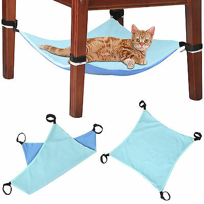 DIGIFLEX Blue Under Chair Cat Hammock Blanket Bed Small Pets