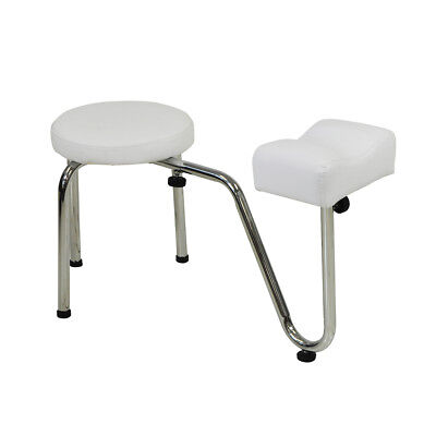 White Salon Pedicure Stool With Footrest Chair