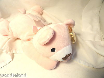 Ty Pillow Pal Snuggy Pink NOS Bear Plush Toy