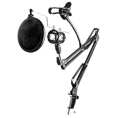 New Professional Adjustable Recording Microphone Mic Holder with Arm Stand Set
