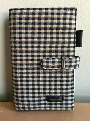 Longaberger / Franklin Covey 6-Ring Compact Planner Binder - Khaki Check