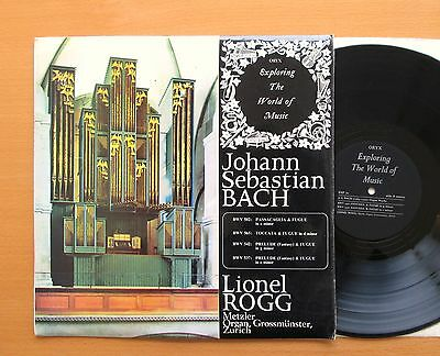 EXP 21 Lionel Rogg JS Bach Organ Works ORYX Stereo Vinyl NM/EX
