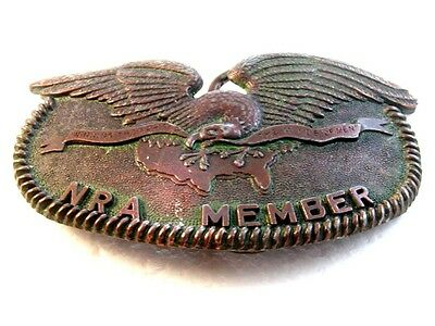 Vintage NRA Member Winning the War for the Minds of Men Belt Buckle