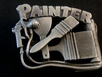 1992 Painter Belt Buckle by The Great American Buckle Co.