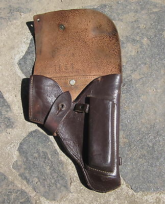 COLD WAR ERA VINTAGE BROWN LEATHER HOLSTER FOR RUSSIAN TOKAREV or MAKAROV