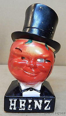 Early HEINZ Tomato Head TopHat Figural Advertising Display Painted Composite 6""
