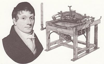 (88383) Postcard James Chambers Ruthven Printing Press - unposted moden card