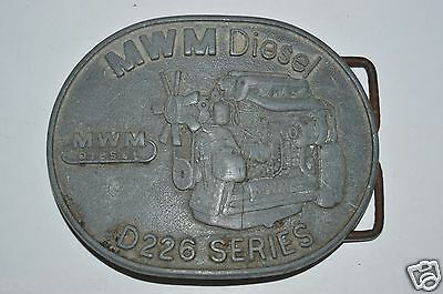 Vintage Marine MWN Diesel Engine D226 Series Nautical Aged Belt Buckle RARE