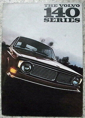 VOLVO 140 SERIES 142 - 144 - 145 Car Sales Brochure 1968 #RK3407 8.68