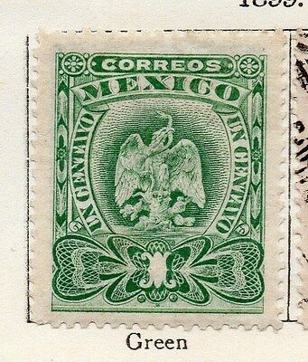 Mexico 1899 Early Issue Fine Mint Hinged 1c. 074472