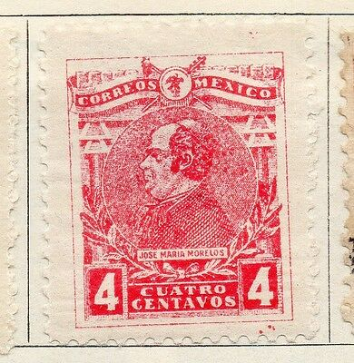 Mexico 1915 Early Issue Fine Mint Hinged 4c. 074503