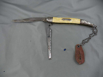 AB CO Folding Pocket Fish Knife Made In Germany With Fob Chain