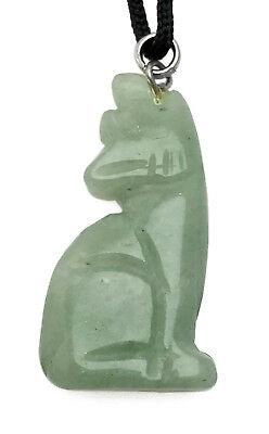 Howling Wolf Aventurine Gemstone Animal Pendant Hand Carved Necklace