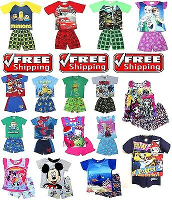NEW Sz 1~16 PYJAMAS PAW PATROL BOYS GIRLS NIGHTIE SLEEPWEAR TOP TEE PJ KIDS PJS