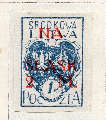 Lithuania (Central) 1921 Issue Fine Mint Hinged 2m. Imperf Surcharged 074666