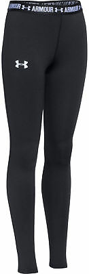 Under Armour HeatGear Junior Long Running Tights - Black