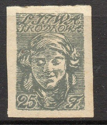 Lithuania (Central) 1920 Early Issue Fine Mint Hinged 25f. 074761