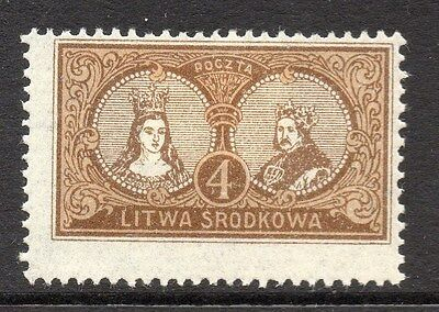 Lithuania (Central) 1920 Early Issue Fine Mint Hinged 4m. 074773