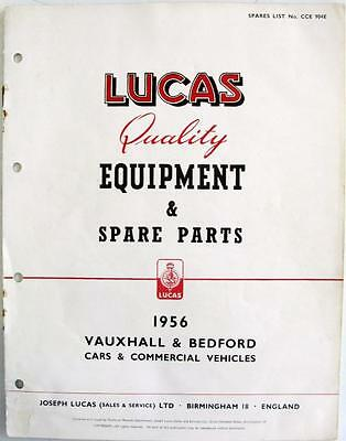 Lucas VAUXHALL/BEDFORD Electrics - Car Equipment & Spare Parts - 1956 -CCE904E