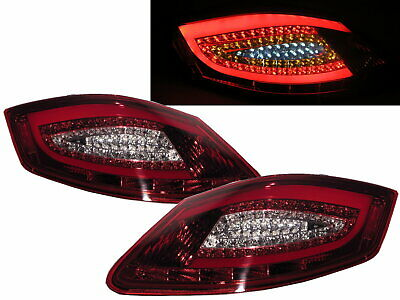 Cayman 987 2006-2009 Coupe 2D LED Tail Rear Light Red/Clear for PORSCHE