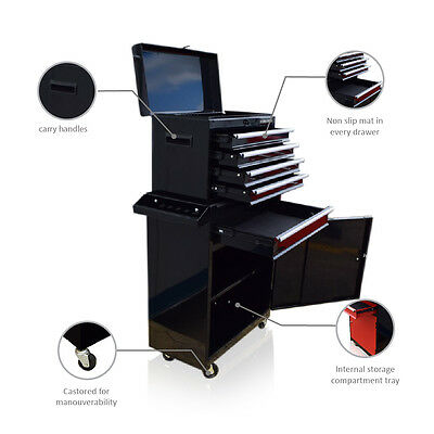 359 Us Pro Tools Gloss Black Tool Chest Box Roller Cabinet Ball Bearing Drawers
