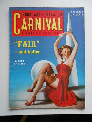 Carnival Hollywood movie stars, pin-ups rare magazine 1939