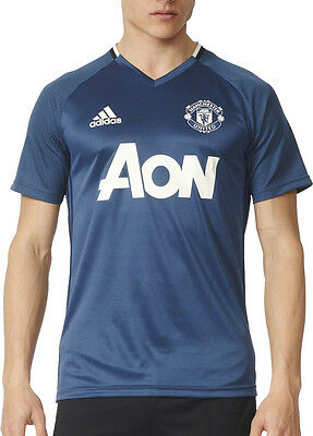 adidas Manchester United 2016/17 Mens Training Top - Blue