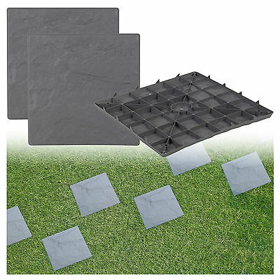 Plastic Patio Paving Slabs Imitation Garden Tile Stone Effect Feature Path Lawn