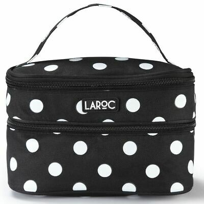 Makeup Cosmetic Bag Travel Accessory Toiletry Wash Double Zip Pouch Purse Holder
