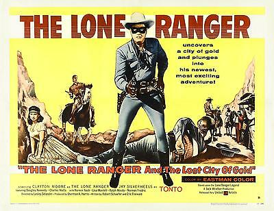 CLAYTON MOORE * THE LONE RANGER & THE LOST CITY OF GOLD 11x14 print * 1958