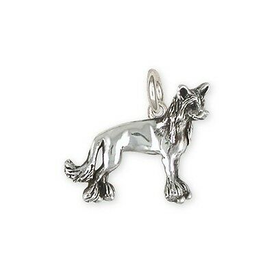 Chinese Crested Charms Jewelry Silver- CC4-C