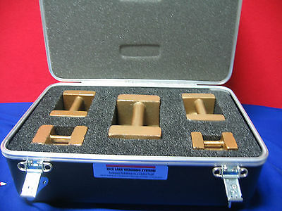 Rice Lake Weighing Systems,carrying/storage Case & Calibration Weights