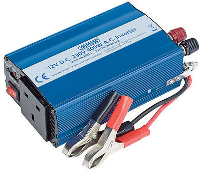 Draper 12V 400W DC-AC Inverter IN400/USB 28815