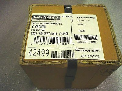 Qty. 1 Hoffman C-CSS48BB base bracket/wall flange SS for 48.3mm tube - NIB
