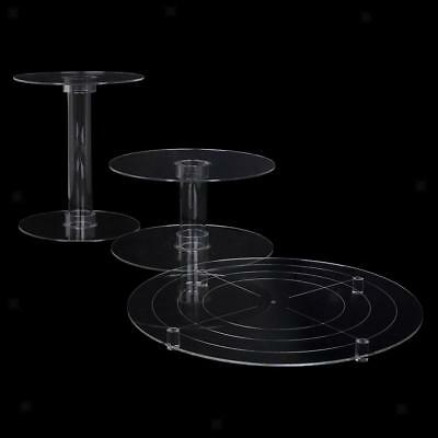 3-Tier Cascade Cake Stand Clear Acrylic Round Cupcake Wedding Party Display