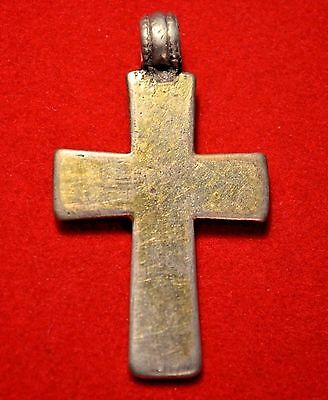 Rare Antique Ethiopian Orthodox Christian Cross Silver Pendant With Gold Plating