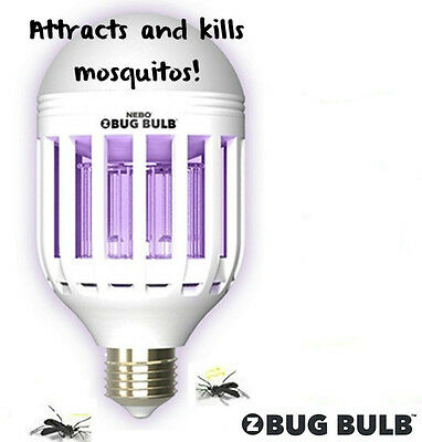 Bug Killing Light Bulb  600 Lumens uses only 9 watts 40,000 hour life  NEBO 6458